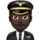 Man Pilot: Dark Skin Tone on Apple iOS 12.2