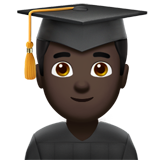 Man Student: Dark Skin Tone on Apple iOS 12.2