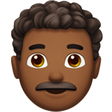 Man: Medium-Dark Skin Tone, Curly Hair on Apple iOS 12.2