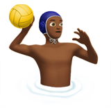 Man Playing Water Polo: Medium-Dark Skin Tone on Apple iOS 12.2