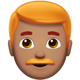 Man: Medium Skin Tone, Red Hair on Apple iOS 12.2