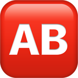 AB Button (Blood Type) on Apple iOS 12.2