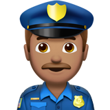 Police Officer: Medium Skin Tone on Apple iOS 12.2