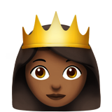 Princess: Medium-Dark Skin Tone on Apple iOS 12.2