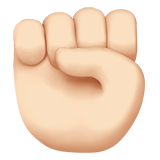 Raised Fist: Light Skin Tone on Apple iOS 12.2