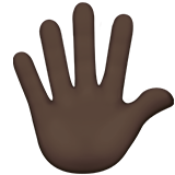 Hand With Fingers Splayed: Dark Skin Tone on Apple iOS 12.2