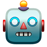 Robot Face on Apple iOS 12.2