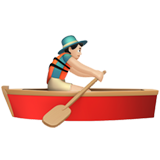 Person Rowing Boat: Light Skin Tone on Apple iOS 12.2