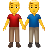 Men Holding Hands on Apple iOS 12.2