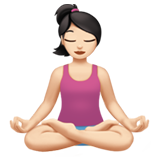 Woman in Lotus Position: Light Skin Tone on Apple iOS 12.2