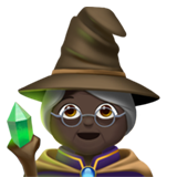 Woman Mage: Dark Skin Tone on Apple iOS 12.2