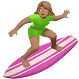 Woman Surfing: Medium Skin Tone on Apple iOS 12.2