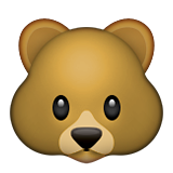 Bear Face on Apple iOS 6.0