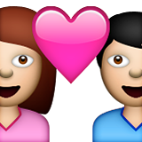 Couple With Heart on Apple iOS 6.0
