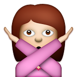 Person Gesturing No on Apple iOS 6.0