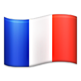 Flag: France on Apple iOS 6.0