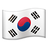 Flag: South Korea on Apple iOS 6.0