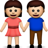 Woman and Man Holding Hands on Apple iOS 6.0