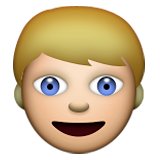 Person: Blond Hair on Apple iOS 6.0