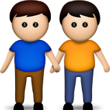 Men Holding Hands on Apple iOS 6.0