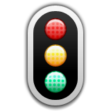 Vertical Traffic Light on Apple iOS 6.0