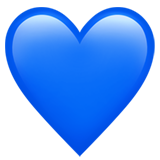 Blue Heart on Apple iOS 13.1