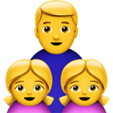 Family: Man, Girl, Girl on Apple iOS 13.1