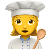 Woman Cook on Apple iOS 13.1