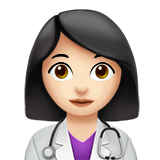 Woman Health Worker: Light Skin Tone on Apple iOS 13.1
