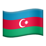 Flag: Azerbaijan on Apple iOS 13.1
