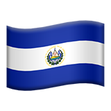 Flag: El Salvador on Apple iOS 13.1