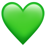 Green Heart on Apple iOS 13.1