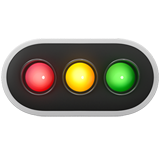 Horizontal Traffic Light on Apple iOS 13.1
