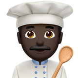 Man Cook: Dark Skin Tone on Apple iOS 13.1