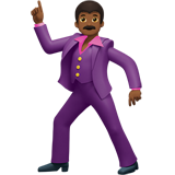 Man Dancing: Medium-Dark Skin Tone on Apple iOS 13.1