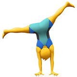 Man Cartwheeling on Apple iOS 13.1