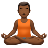 Man in Lotus Position: Medium-Dark Skin Tone on Apple iOS 13.1