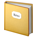 Notebook with Decorative Cover on Apple iOS 13.1