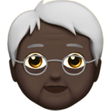 Older Person: Dark Skin Tone on Apple iOS 13.1