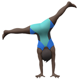 Person Cartwheeling: Dark Skin Tone on Apple iOS 13.1