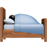 Person in Bed on Apple iOS 13.1