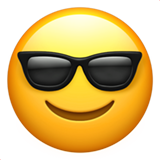 Smiling Face With Sunglasses on Apple iOS 13.1