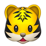 Tiger Face on Apple iOS 13.1