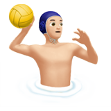 Person Playing Water Polo: Light Skin Tone on Apple iOS 13.1