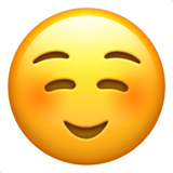 Smiling Face on Apple iOS 13.1