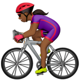 Woman Biking: Medium-Dark Skin Tone on Apple iOS 13.1