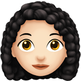 Woman: Light Skin Tone, Curly Hair on Apple iOS 13.1