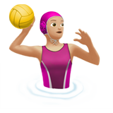 Woman Playing Water Polo: Medium-Light Skin Tone on Apple iOS 13.1