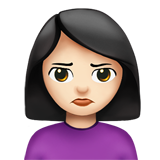 Woman Pouting: Light Skin Tone on Apple iOS 13.1