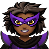 Woman Supervillain: Medium-Dark Skin Tone on Apple iOS 13.1